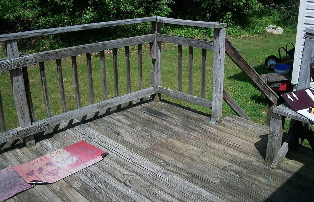 Deck - Before construction