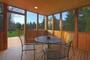 A screened in porch allows you to enjoy the weather while being protected from bugs, strangers, and the elements!