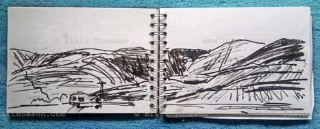 Abernethy art trip sketch