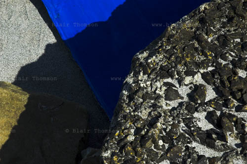 rocky concrete with blue and sand surfaces