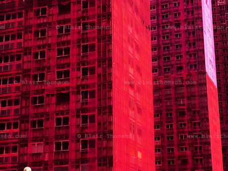 red towers, rising