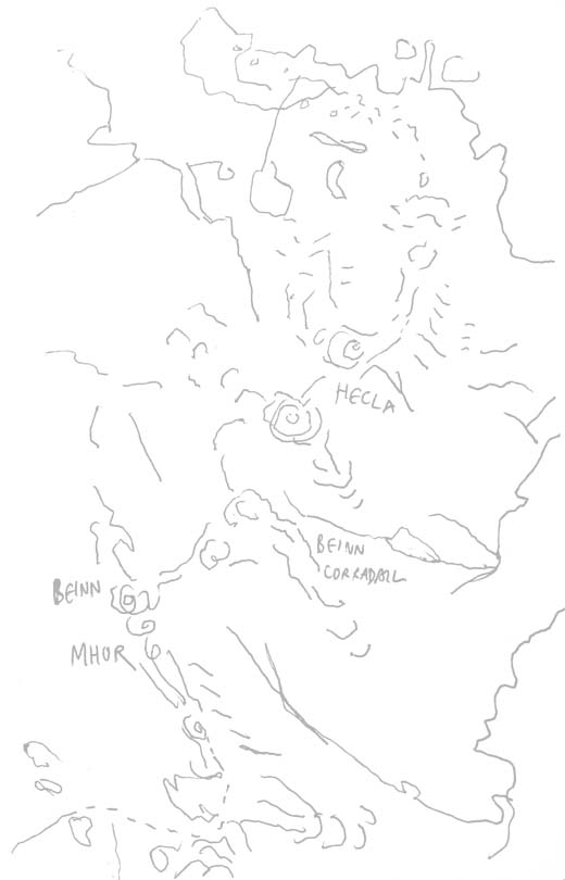 South Uist map