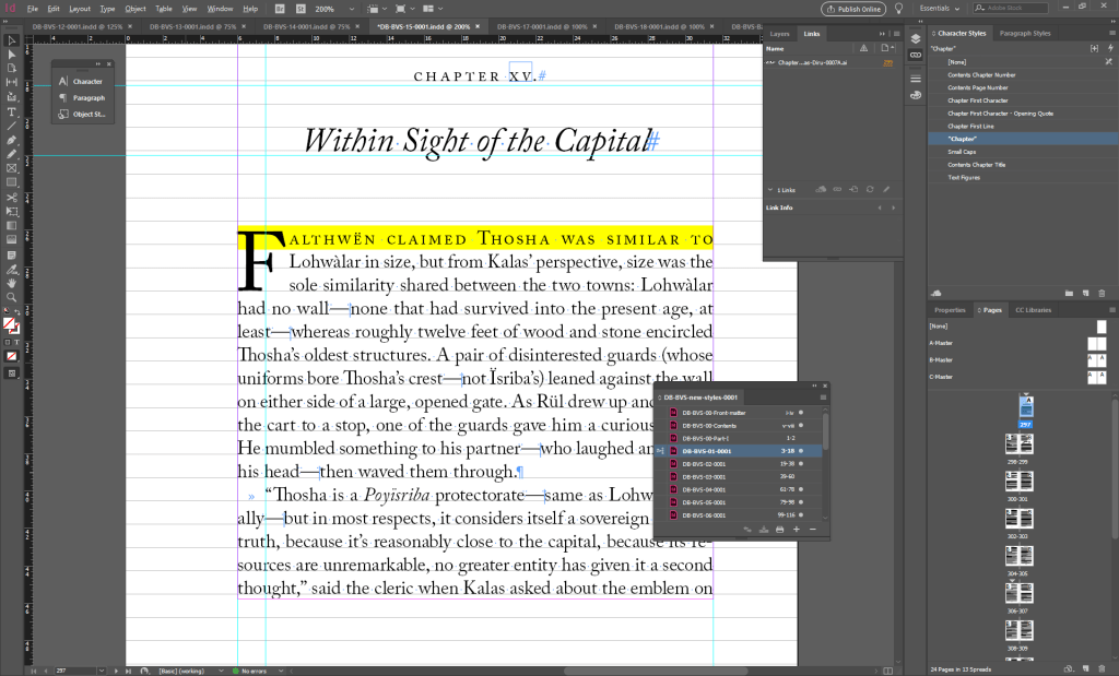 Adobe InDesign screen shot