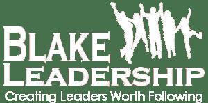Blake Leadership Logo in White with Tag