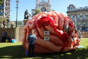 Blake Porter Neuroscience BHRC outreach inflatable brain