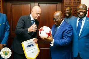 FIFA President  Infantino with President Akufo-Addo