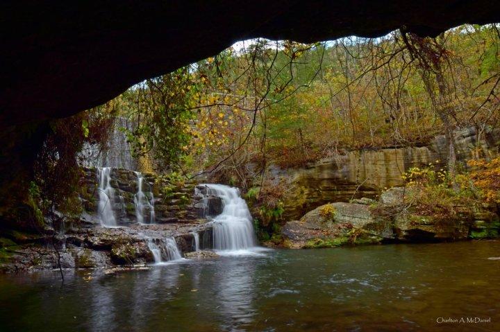 Mirror Lake Falls at Blanchard Springs 4