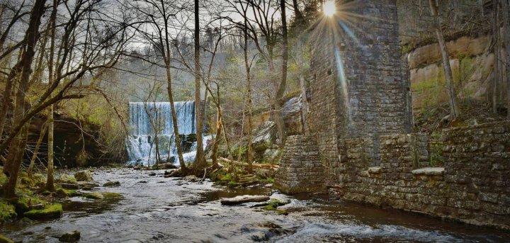Blanchard Mirror Lake Falls and Mill