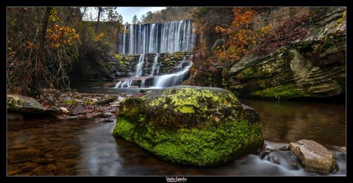 Mirror Lake Falls at Blanchard Springs