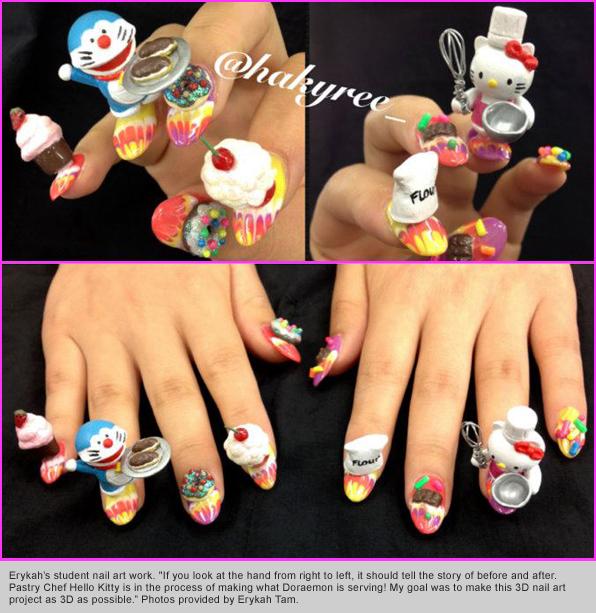 Top Nail School Graduate Erykah Tam S Student Nails