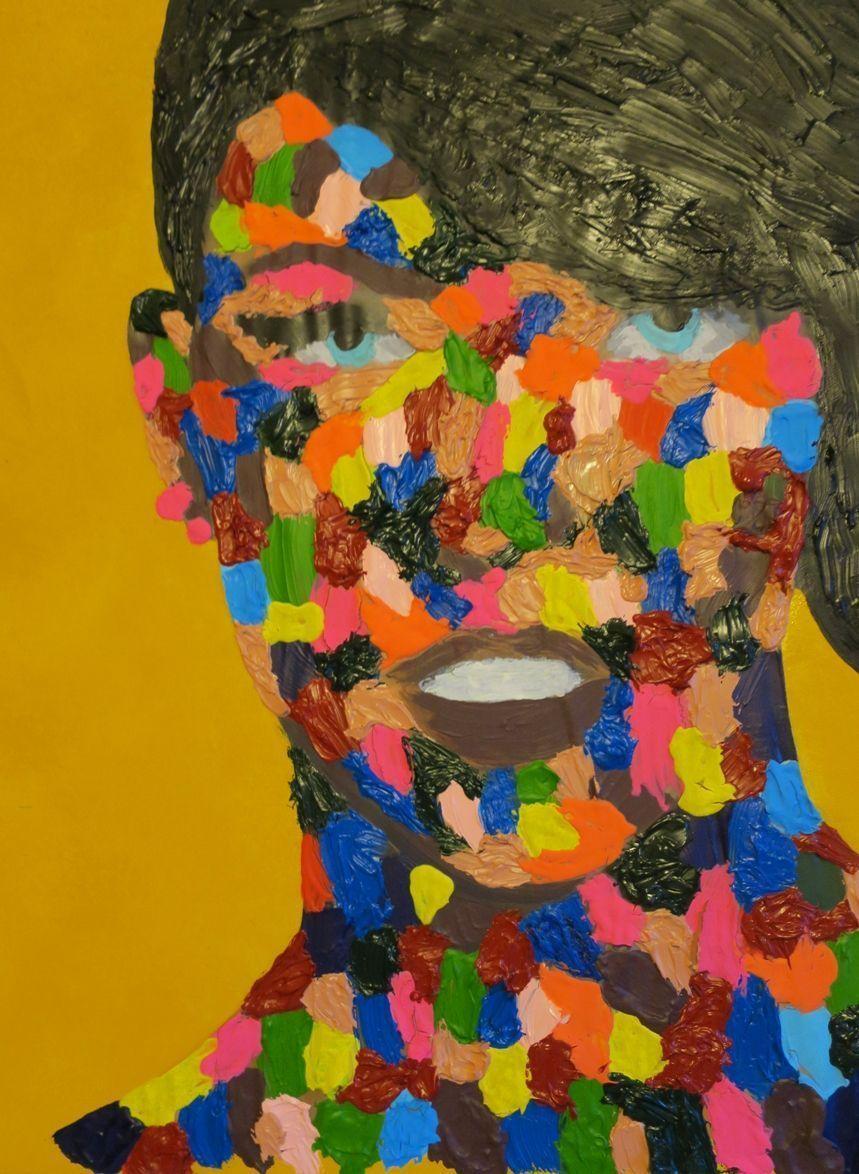 retrato abstracto de colores