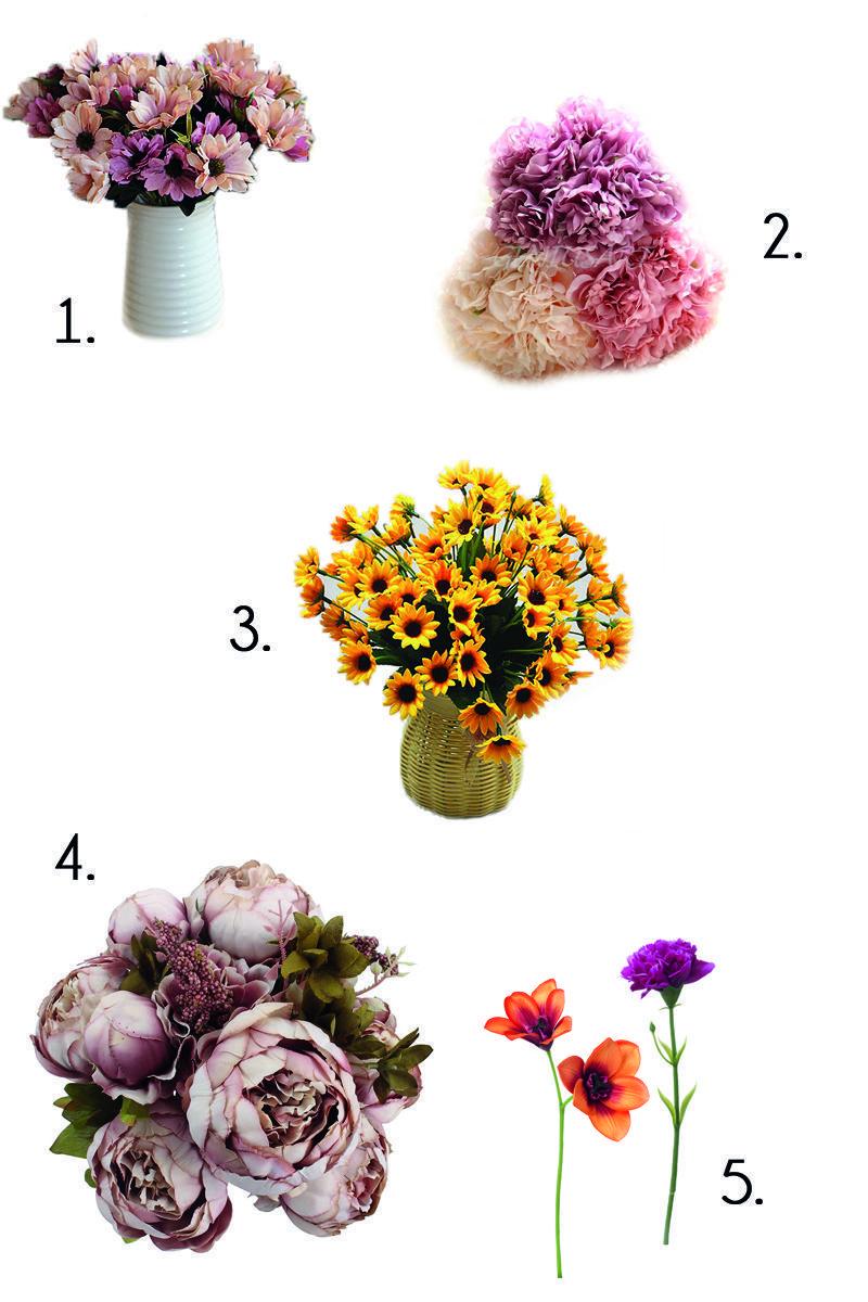 dónde comprar flores artificiales
