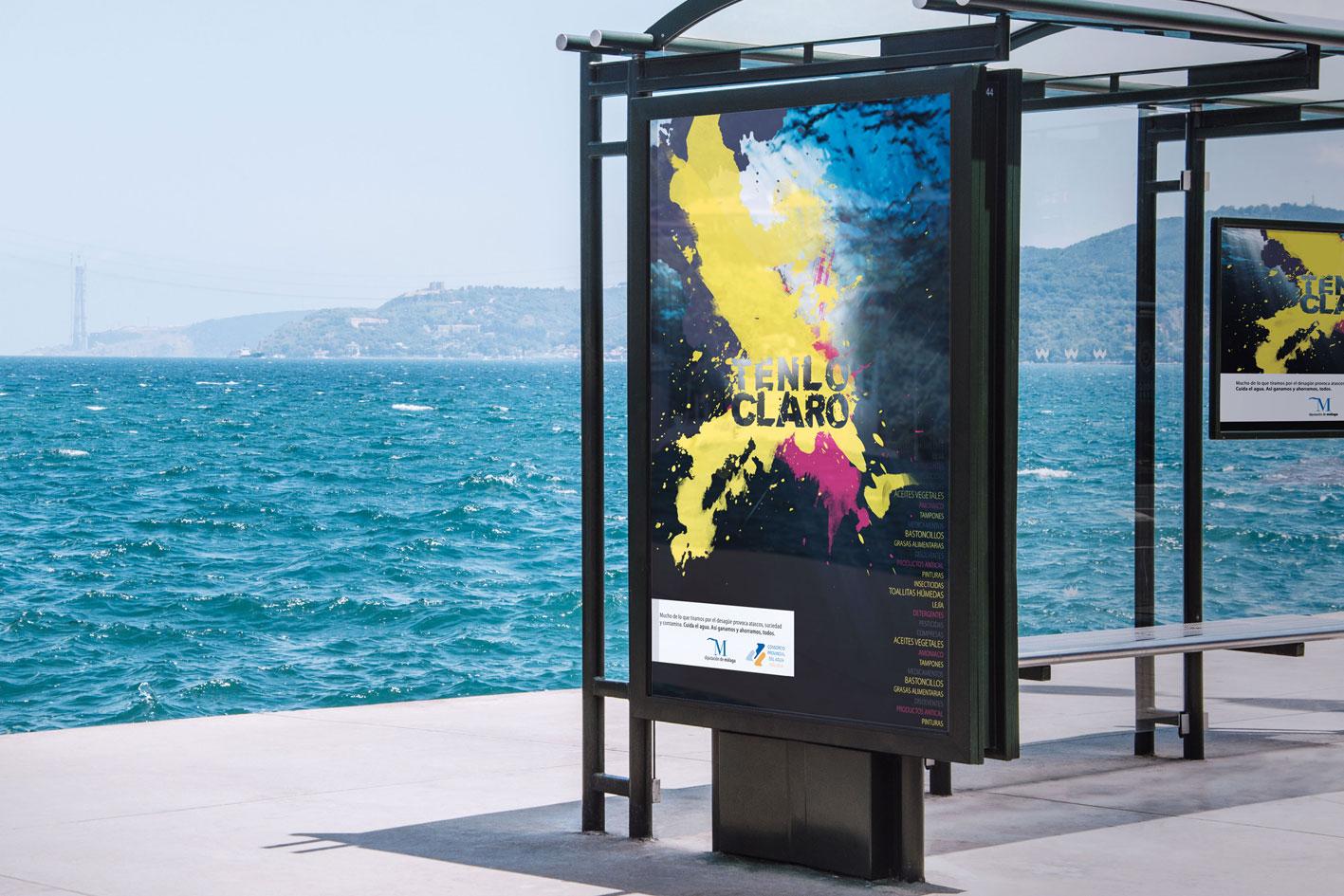 marquesina Poster tenlo claro campaña Málaga por Blanco Ruso