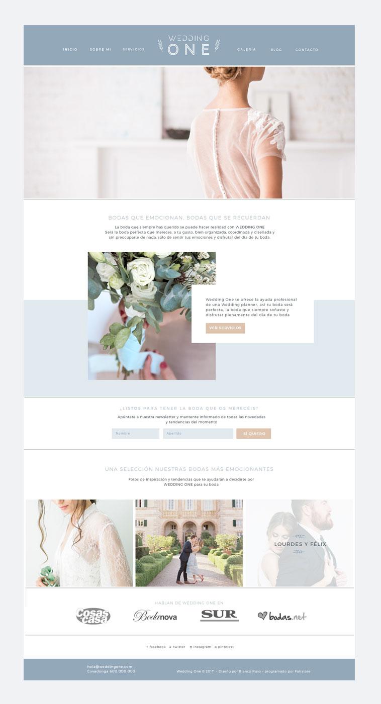 identidad de marca y web para wedding planner