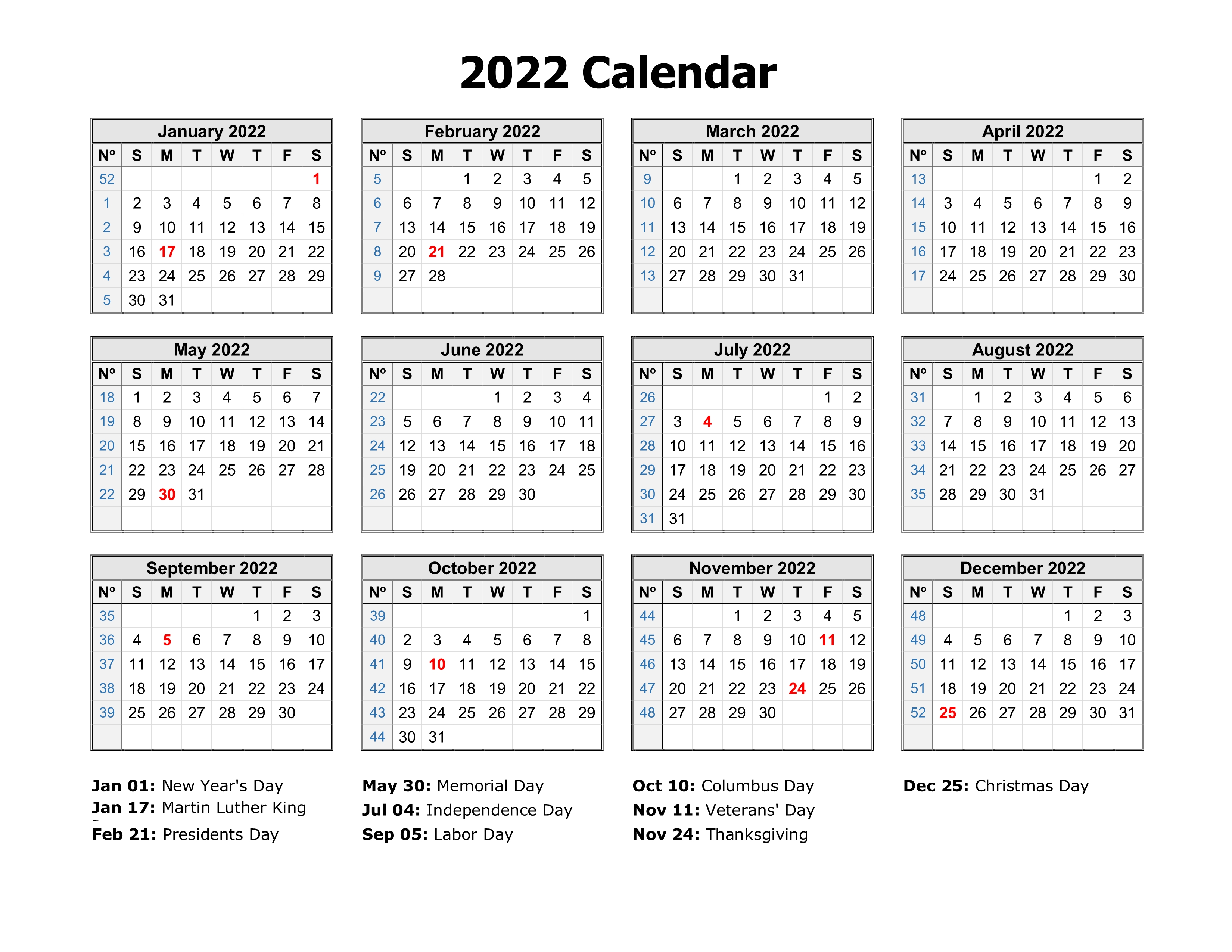 Sometimes it is handy to have a calendar for your current month on your cubical wall. Free Download Printable Calendar 2022 in one page, clean ...