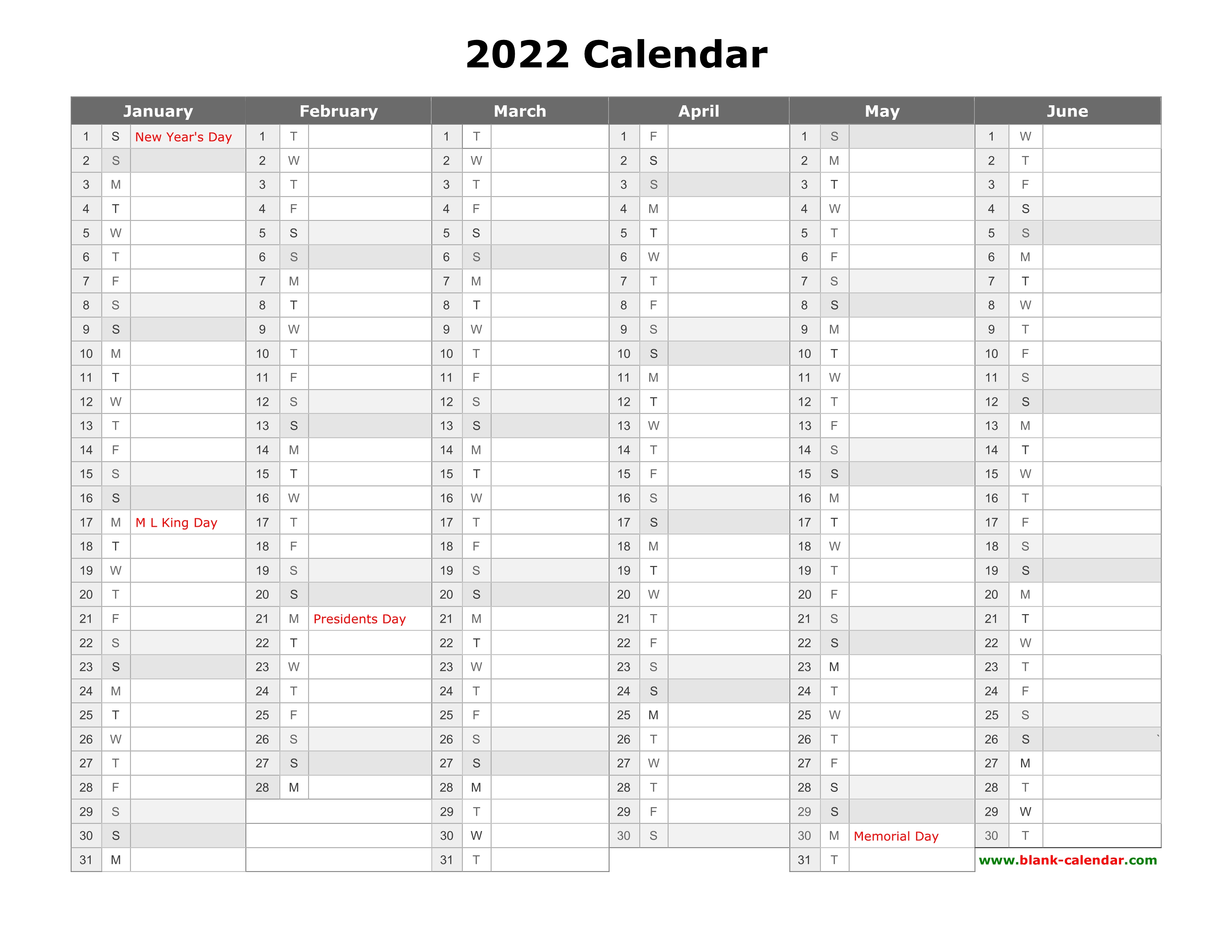 Get these 2022 free printable calendars as early as now! Free Download Printable Calendar 2022, month in a column ...