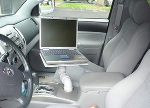 Cup holder Laptop mount