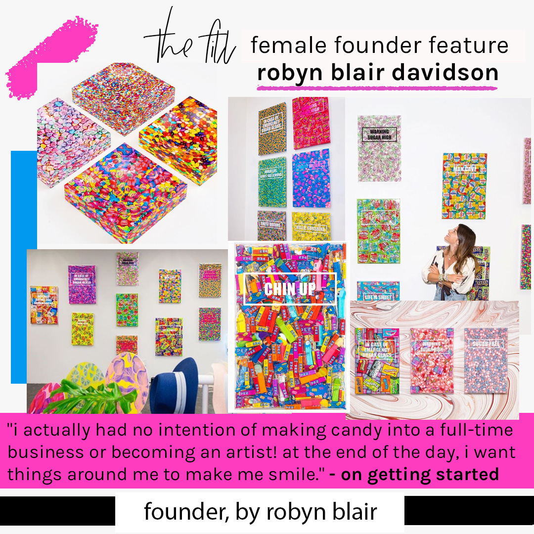 byrobynblair candy art female founder feature blankbox