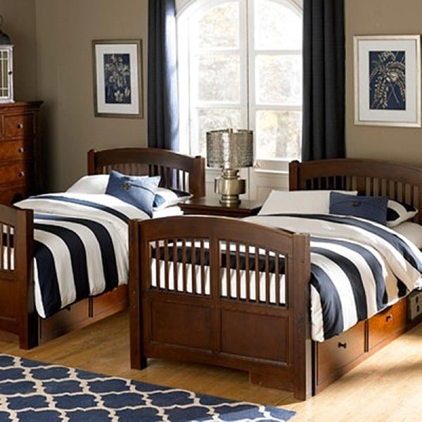 hayden navy blue white stripe bunkbed comforter by california kids