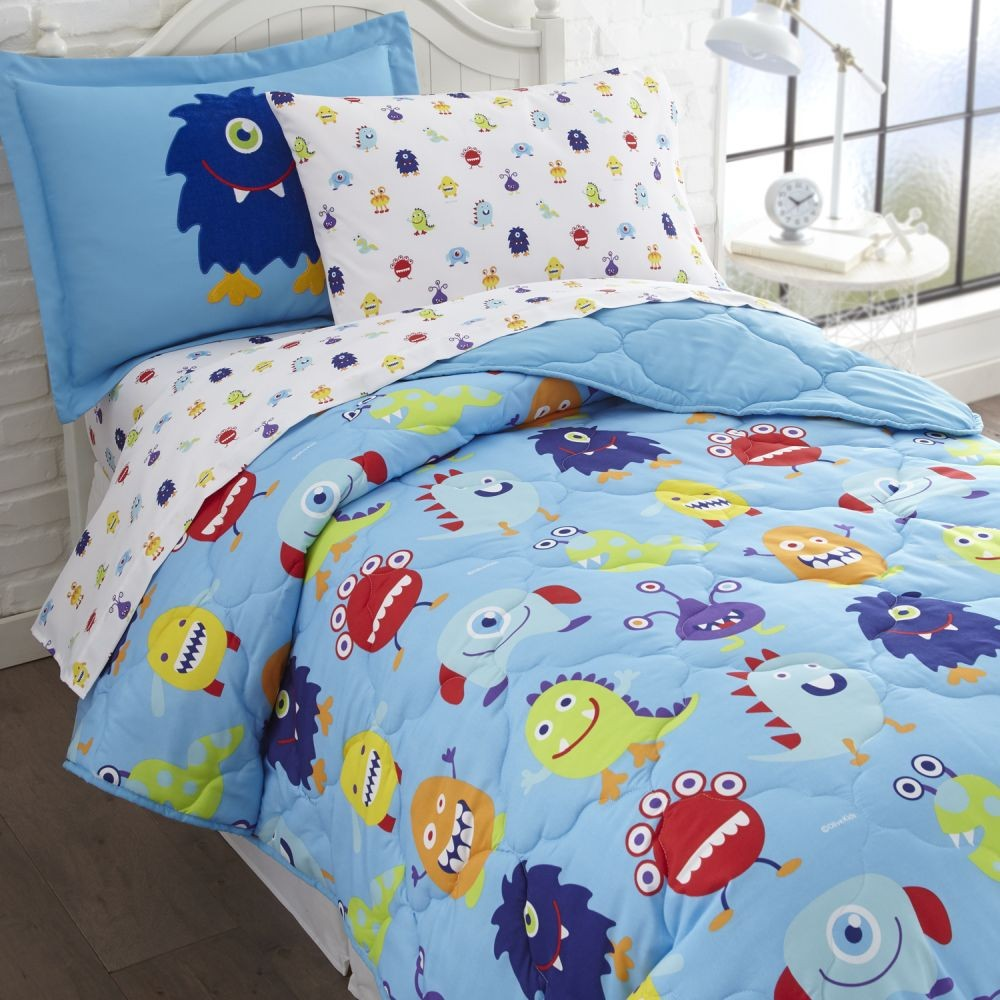 Olive Kids Monsters 5 Piece Bed In A Bag Set Twin Size