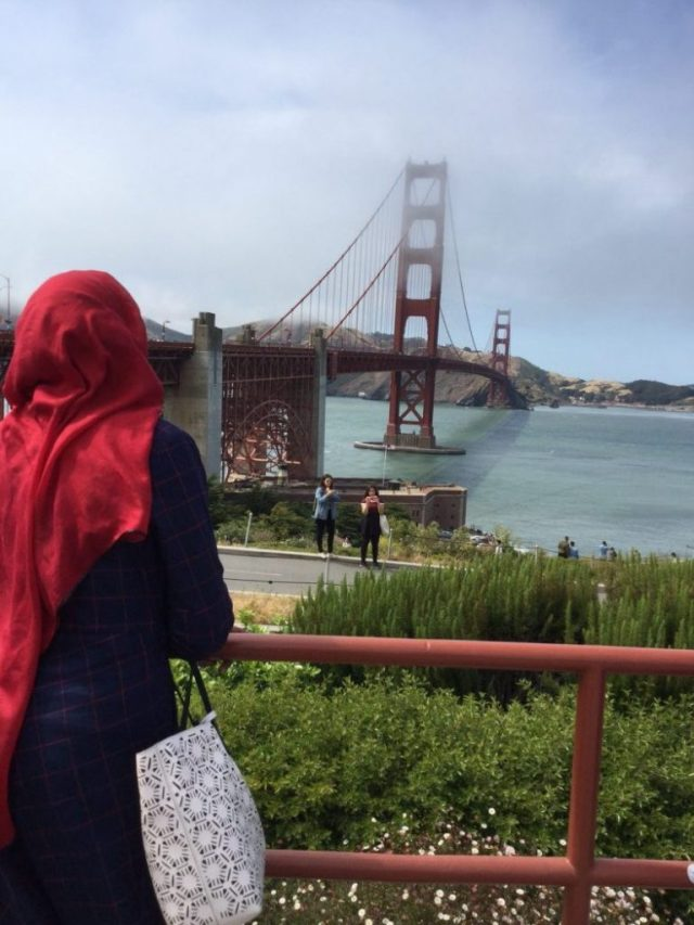 Amina Diambo by the Golden Gate Bridge