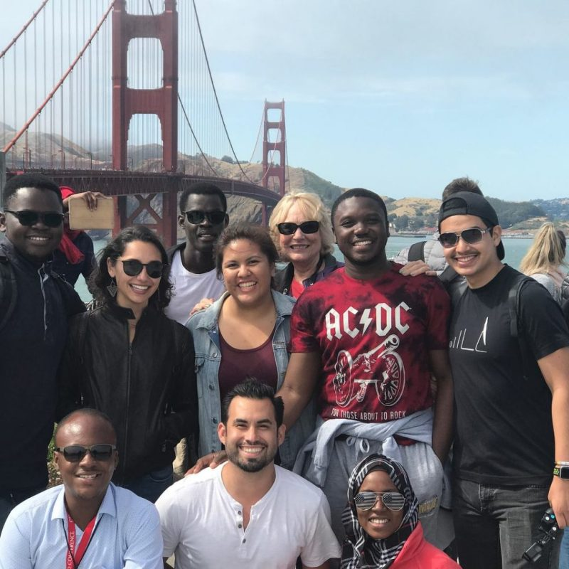 Miguel Ramirez and SUSI students on a field trip in the US