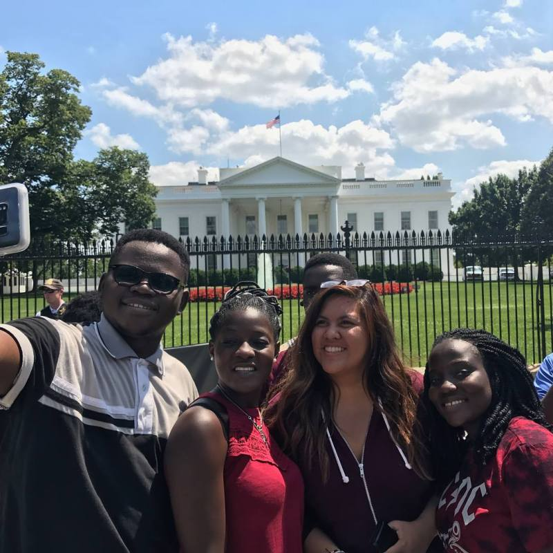 Cecilia Njika at the White House during her Study of the United States Institute for Student Leaders (SUSI) program