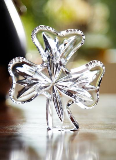 Waterford Crystal Shamrock Paperweight Blarney
