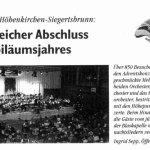 Adventskonzert 2005 -Bericht- (Gemeindeblatt, 12/2005)