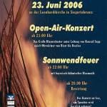 """Sonnwendfest 2006 """"Ohrwürmer von Bizet bis Beatles"""""""