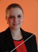 Dirigentin des Jugendblasorchesters: Regina Kätzlmeier