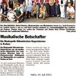 Musikalische Botschafter (Hallo, 14. Juli 2011)