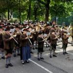Marschierprobe mit dem Bayerischen Rundfunk