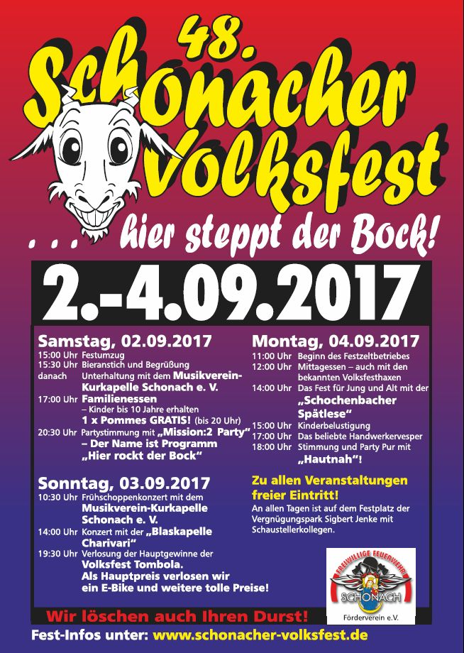 Volksfest Schonach 03.09.2017