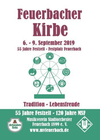 Feuerbacher Kirbe 2019- Blaskapelle Charivari