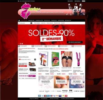 Habillage de boutique en ligne - www.7peches.com