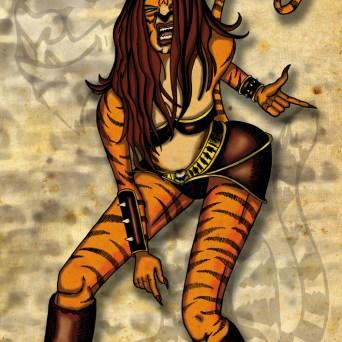 Tigra fan art pour le site Buzzcomics