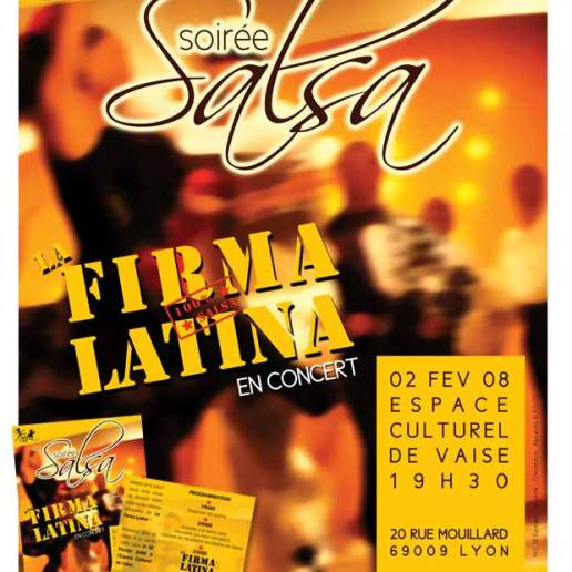 Affiche et flyer pour un festival Salsa