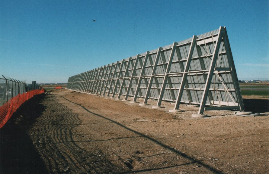 Airport Jet Blast Deflector Wall And Protection System