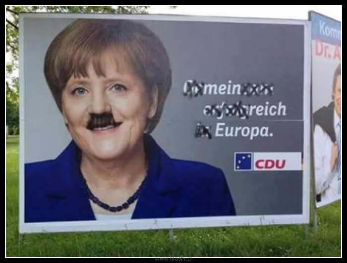 Znalezione obrazy dla zapytania Demotywatory-memy Merkel