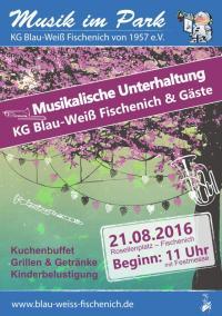Plakat - Musik im Park 21.08.2016