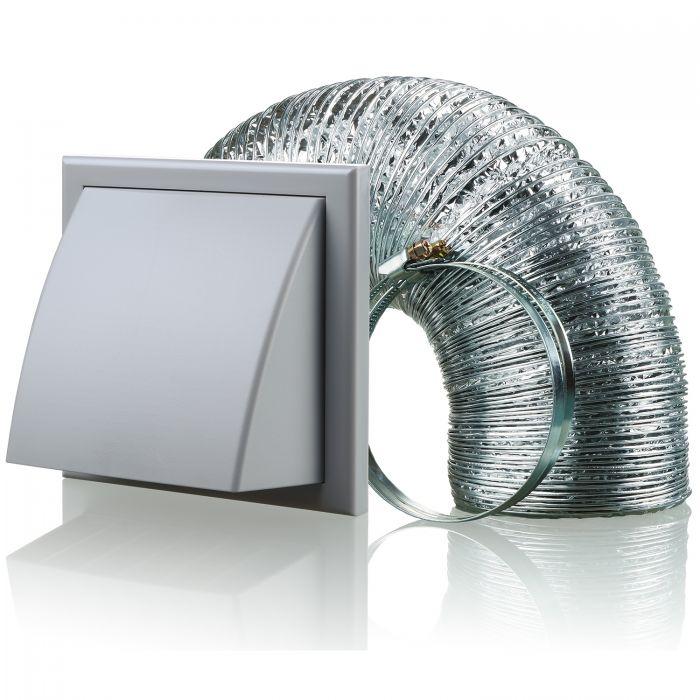 blauberg cooker hood duct cowled wall shutter vent kit fan extractor