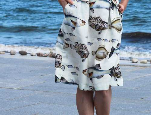 Fishprint Skirt Burdastyle