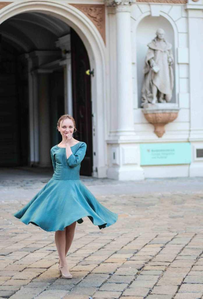 Twirling in Vintage Dress