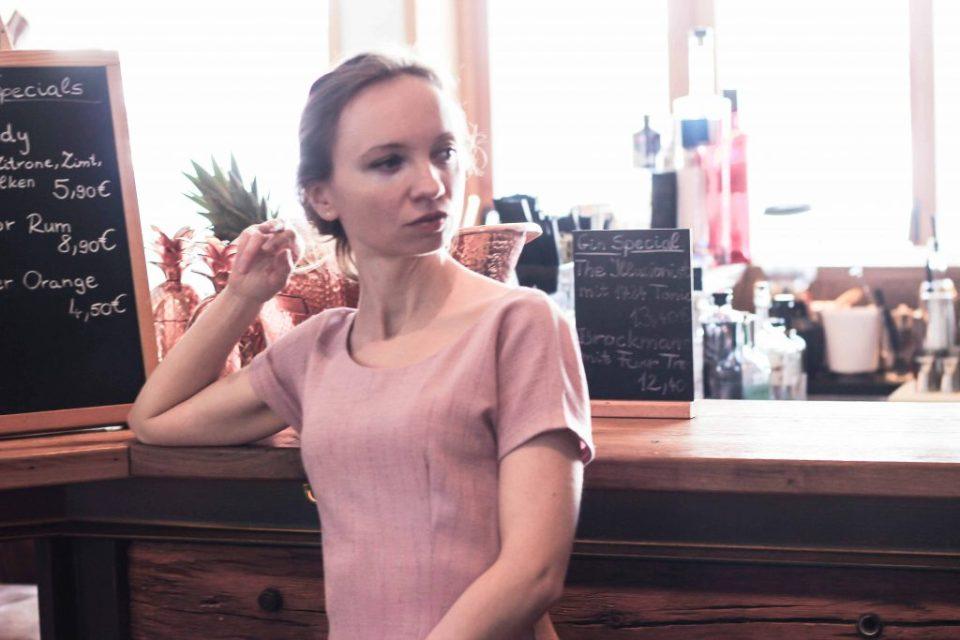 Vintage Kleid selbstgenäht Original Schnittmuster Butterick