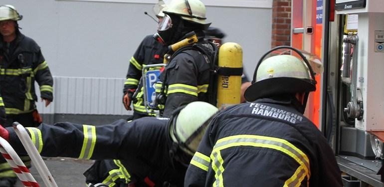 Feuer in einer Ferienwohnung mitten in Hamburg