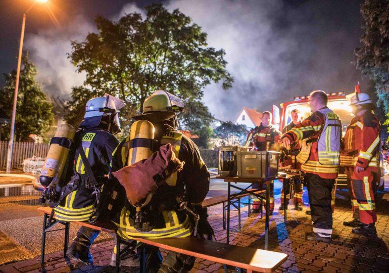 Brand eines Einfamilienhauses