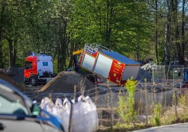 Hochdruckgasleitung durch Bagger beschädigt