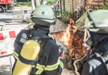 Feuerwehr Hamburg lässt Feuer brennen - aus gutem Grund