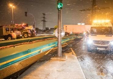 Schwertransport blockiert Köhlbrandbrücke - langer Stau im morgendlichen Berufsverkehr